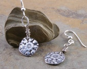 Sterling Silver Handcrafted Flower Earrings