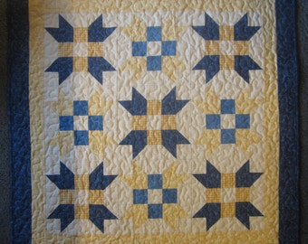 Handmade Quilt , Wall,  Table Topper, Quilt Stars