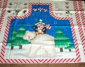 PEPPERMINT PALS by Dianna Marcum CHRISTMAS Apron Panel for Kathi Bishop