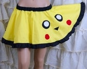 Pikachu Pokemon Retro Gamer Applique Circle Skirt Adult ALL Sizes - MTCoffinz