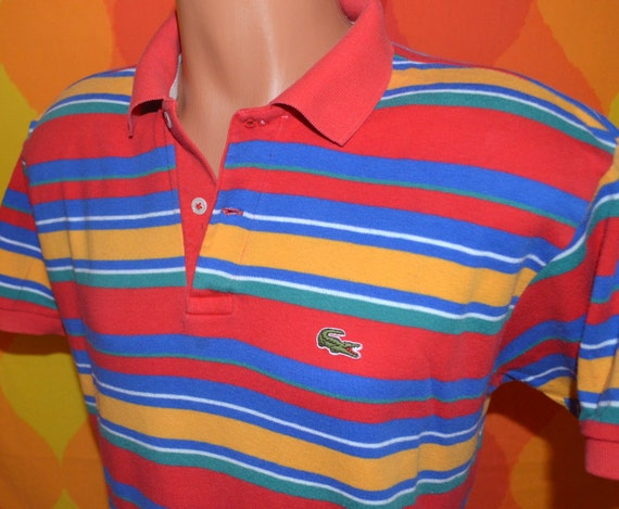 Mens Striped Polo Shirt With Pocket
