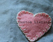 Custom Felt Heart Garland order for ACHEATHAM -