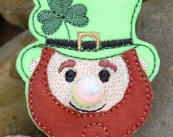 Leprechaun Flameless Tealight Pin Machine Embroidery File Instant Download