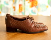 ON RESERVE Brown Leather Oxford Shoes