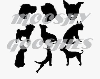 Custom Puppy Silhouette - Digital file