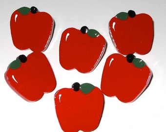 Bright Red Apple Push Pins for Bulletin Board