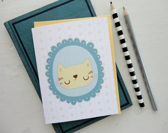 Kitty Cat Note Card