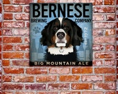 Bernese Mountain Dog Brewing Company graphic illustration on canvas by Stephen Fowler