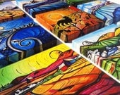 2 12x12 Gallery Wrapped Prints on Canvas from the Van Gogh Series