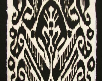 Mother's Day Mother's Day Sale 20% Off // Indonesian Ikat - Hand-Cut Silhouette Papercut // Coupon Code SALE20