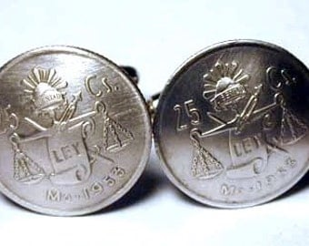 Coin Jewelry-Silver Scales of Justice Cuff links-free shipping