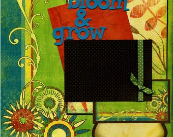 Bloom & Grow - Premade Scrapbook Page