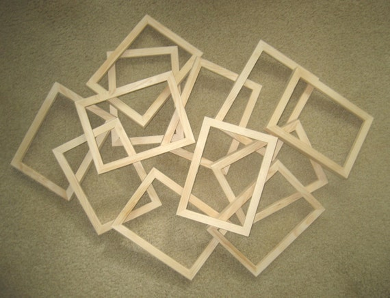 Unfinished Wood Picture Frames Lot Of 12 8x10 8x8 Etc 5