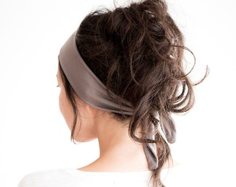 Tie Back Headscarf // Fabric Headband // Fashion Headband // Yoga Hairband // Knotted Headscarf // Hair Wrap // Fawn