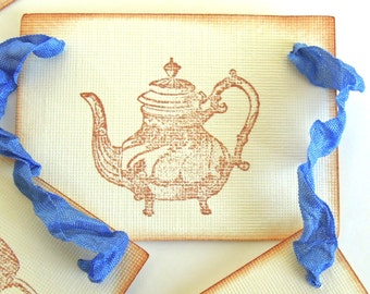 Vintage Inspired Royal BlueTea Party Garland - 1 yard Bunting