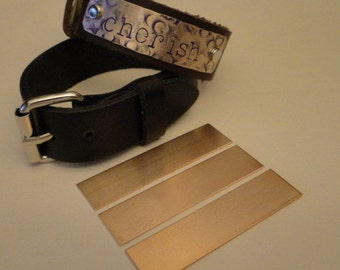Bracelet Blanks - 1/2 inch X 2 inch rectangles - Quantity 3 - perfect addition to your leather creations