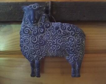 Blackened Beeswax Ewe Ornament