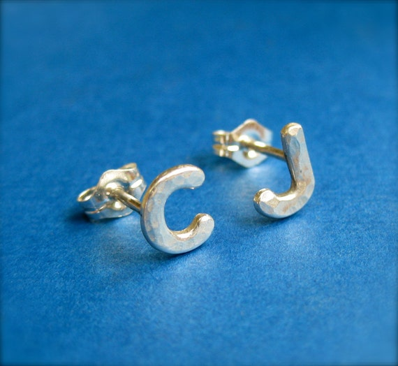 Custom Initial Letter Stud Earrings, Letter Earrings, Personalized Earrings, Featured on Bobbies Buzz on the Today Show