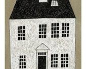 13 x 19 Print of Original Illustration - White House Three
