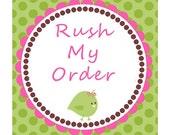 Rush My Order Please