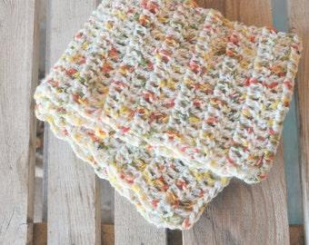 Patchwork - Handmade crocheted scarf