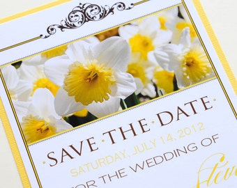 Yellow Daffodil Wedding Save the Date