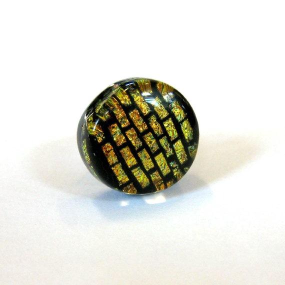 Dichroic Glass Tie Tack, Tack Pin for Men, Dichroic Scarf Pin - Monticello - 019 -2