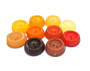 10 Vintage buttons, 10 colors, 22mm, suitable for button jewelry, sewing, crafts, clothing, scrapbooking