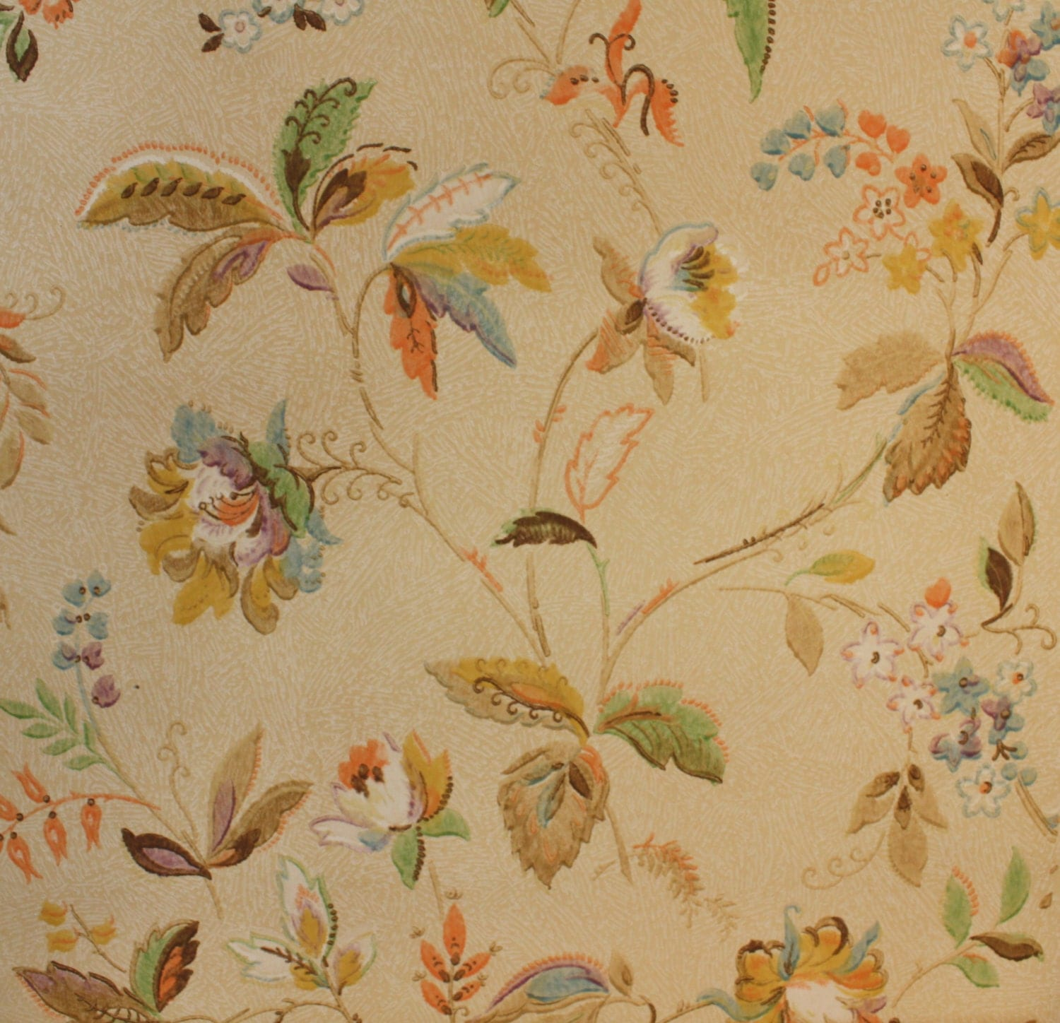 1930 39 s vintage wallpaper antique floral by hannahstreasures for Vintage sites like etsy