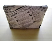 Newspaper - Large Zippered Pouch
