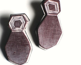Abstract figure earrings