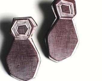 Abstract figure earrings