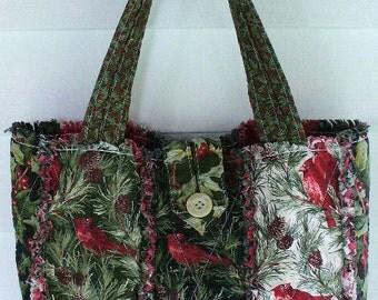 Ashlawnfarms New Strip Style Rag Quilt Purse Custom made for You Long Strap length