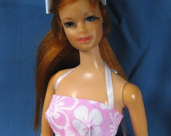 Barbie Clothes - Pink and White Minidress Set