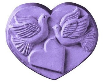 Heart With Doves Soap Mold