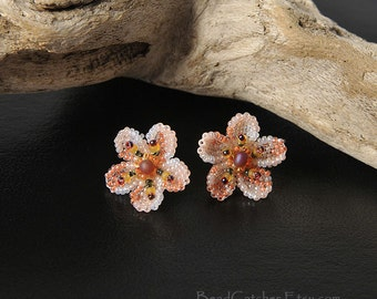 Cherry blossoms spring earrings