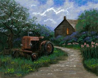Springtime on the Farm - 11x14 Acrylic Painting