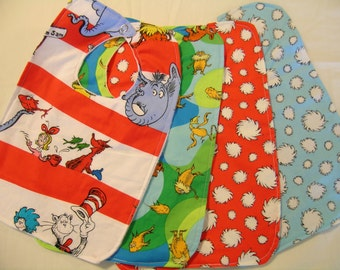 Set of 2 Baby Toddler Bib Cute Patterns with Snap Closure Lorax