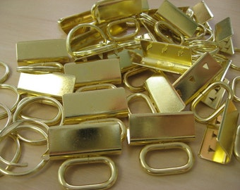 Key Fob Hardware BRASS OvalTop sets NEW  100SETS