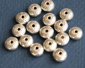 30 pcs of antiqued silver Donut spacer beads 8x5mm