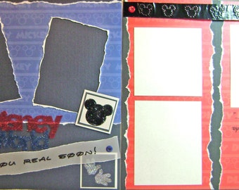 Scrapbook Premade Pages Disney World 12x12 layout - kitsnbitscraps
