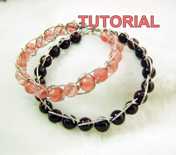 WIRE JEWELRY TUTORIAL- Wire Wrap Infinity Bracelet.
