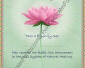 Custom Reiki Certificate Templates - Lotus