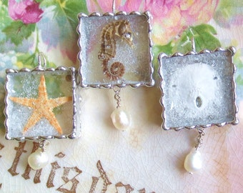 Choice of One - Real Starfish Pendant - Real Seahorse Sea Horse Pendant - Real Sand Dollar - Ocean - Beach - Waves - Wedding Beach Party