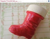 50% OFF Vintage 1950's Santa Claus Boot Paper Mache Candy Container Papermache