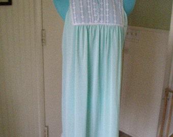 SALE-Sale Vintage 40s VanRaalte Light Green Nightgown-New-Never Worn