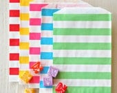 Great Parties - Sweet STRIPE Favor Bags SET OF 12 from Mary Had a Little Party