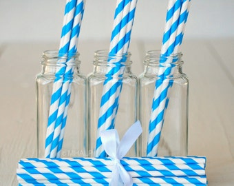 Stripe Straws BLUE - Great Parties Supplies from Mary Had a Little Party
