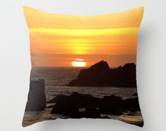 Sunset On The Pacific Ocean Pillow Cover Pillow Cover Sunset Ocean Waves Sweet Things Beach Decor Sea