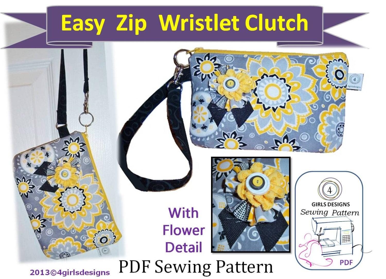 wristlet sewing pattern pdf download